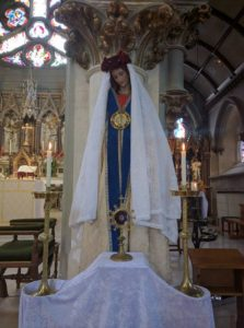 Statue of St. Mary Magdalen with relic.